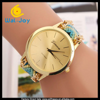 WJ-3118-1 charming high quality knitted colorful simple women pretty wrist watch