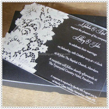 Handmade Acrylic Engraved Invitation Card for Wedding Favor