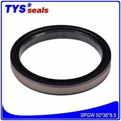Bronze filled PTFE+Nylon+NBR Excavator Parts Hydraulic Cylinder Piston seals 50*36*8.5 SPGW