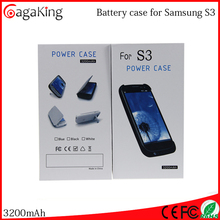 Portable battery charger for samsung galaxy s3 battery 5v 3200mah Mobile phone battery