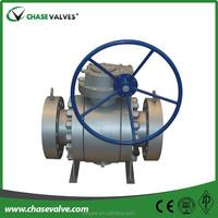 High temperature 6 inch Trunnion Brass Ball FLOAT Valve