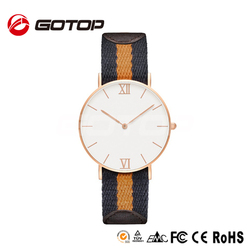 Fashion nato strap watch customize logo silver,rose gold plated 40MM men wristwatches