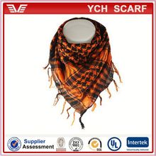Polyester arab shemagh military scarf