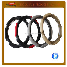 car leather wheel cover leather car steering wheel protector