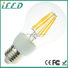 60 Watt Incandescent Replacement 600lm Daylight 4000K Clear E27 LED Candle Filament Bulb Pendant Light