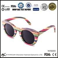 2015 brand new hinge laminated recycled skateboard bamboo wooden sunglasses