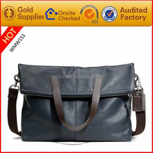 Factory Price College Boy Blue Leather Shoulder Bags Cross Body Bag
