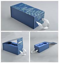 recyclable custom handmade paper box for wedding invitations