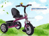 2015 latest popular color safe and comfortable baby plastic toy tricycle with back seat