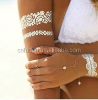bracelet gold metal tempory body tattoo,adult body tattoo stickers,arm sleeves tattoo