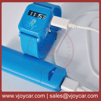 wrist band gps with real time tracking software, sos button and listen in remotely