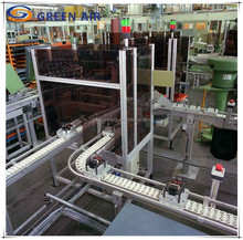 Aluminium flexible chain belt conveyor machine