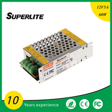110-240V DC 12V5A Universal Regulated Switching Power Supply,60W ac dc led power supply For LED Strip/CCTV