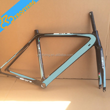 New Famous Green size 50 53 55cm chinese carbon road bike frame on sale