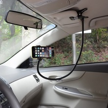 New Design Cell Phone Car Holder Standard Flexible 360 degree Desk Table Car Plastic Cell Phone Car Holder with Safe Clamp