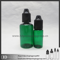 HD green 2015 Wholesale Price PET Style 10ML Plastic Dropper Bottles With Colorful customized