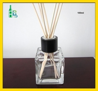 100 ml square ound Glass Fragrance Diffuser Bottle /Air Fresheners Room Reed Diffuser bottles