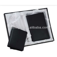 13003A High quality leather wallet belt gift set