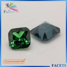 Facets Gems Loose CZ Gems Square Princess Cut Corner Emerald Rough Prices