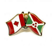 Factory directly supply metal badge lapel pins- Canada flag pin
