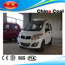 China coal group 2015 New lauch mini 4 wheel electric car with four seats for family use