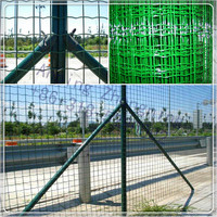 PVC coated welded metal fence in rolls/ Euro fence/Wave fence