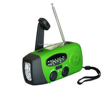 AM/FM radio USB mobile/iphone rechargeable solar torch light