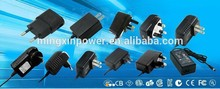 Wall-mount 7.5W 15V ac/dc power adapter 15V 0.5A with US,EURO,AUS,UK plug for LED strip,CCTV camera etc.