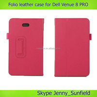 Tablet case cover folio leather case for Dell Venue 8 pro , for dell venue 8 pro case