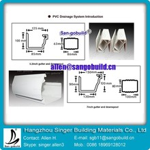 Other Plastic Materials Building Using PVC Water Collector for Rainy Season Roof Drainage