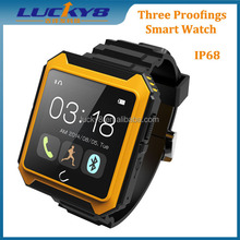 Outdoors unbreakable anti-shock three proofing Bluetooth watch waterproof IP68 1.6'' support call sms whatsapp facebook
