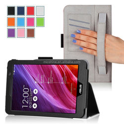 Case for Asus MEMO Pad 7 ME176CX case cover with wallet card pocket and handhold11 colors factory stock supply