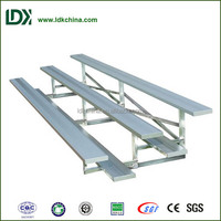3 rows hot selling aluminum plank low riser potable stand equipment for playground