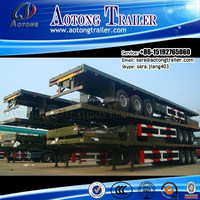 Made In China multi purpose 3-axle 40ft flatbed Container chassis/container transport semi trailer(skeletal optional)