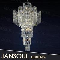 2015 modern fancy energy saving led decorative flower pendant light crystal chandelier from zhongshan JANSOUL lighting