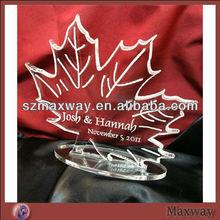 Hot Selling Maple Leaf Theme Plexiglass Cake Toppers \Decoration\Celebration\Sentimen