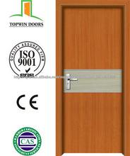 Nuevo Diseño de Interiores MDF PVC Puertas de madera para habitaciones
