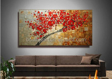 Cherry Blossom Artwork Wall Painting Landscape Oil Painting On Canvas Palette Knife Modern Painting Home Decor Wall Art