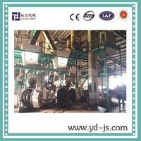 10 tons per hour wood pelleting machine, CE biomass wood pellet line popular used in Malaysia
