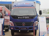 China brand light duty van box truck Foton cargo truck for sale