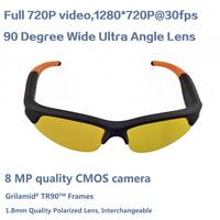 Yellow coor HD 720P Camcorder Mini Camera DVR Sunglasses Video Recorder CMOS Sunglasses Camera