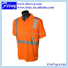 100%polyester wholesale jogging reflective high visibility t-shirts