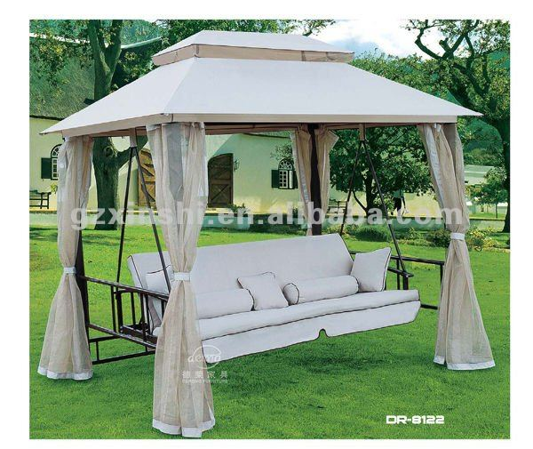Popular Garden Iron Swing With Canopy Outdoor Furniture