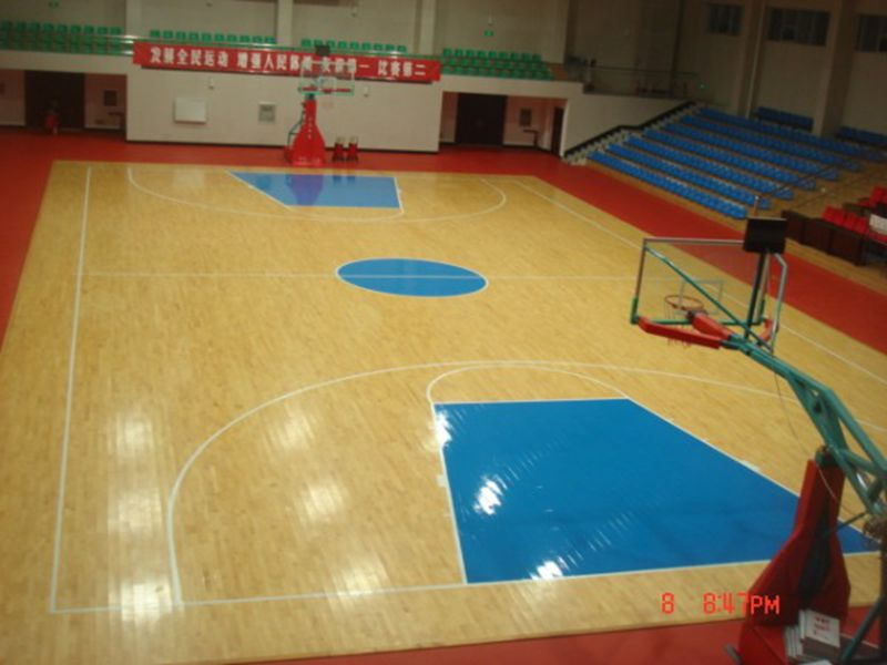 anti-skidding portable indoor plastic basketball floor