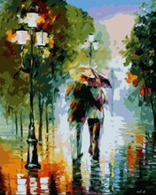 oil painting by numbers abstract raining city landscape acrylic handmaded painting on canvas GX6996 paintboy brand