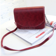Fashion detachable shoulder ladies vintage PU leather messenger bag