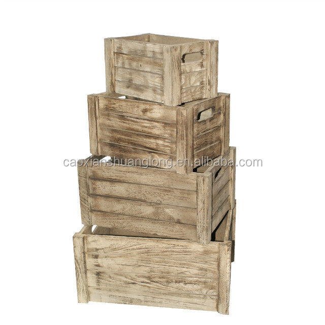 Rustic handmade wooden crates for fruits and vegetables for Buy wooden fruit crates