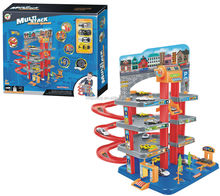 Multi-intelligent Toys Track Car Parking Lot 3 Storeys Play Set With 4 pcs. Small Car For Boys and Girls