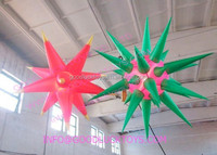 decorative inflatable, holidays lighting airstar,inflatable lighting decoration stars
