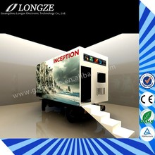 Longze big profit games mobile truck cinema 5d,truck mobile 7d cinema